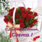 Открытка с днем рождения Света красивая скачать бесплатно на сайте otkrytkivsem.ru