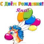 Открытка с днем рождения Яна прикольная скачать бесплатно на сайте otkrytkivsem.ru