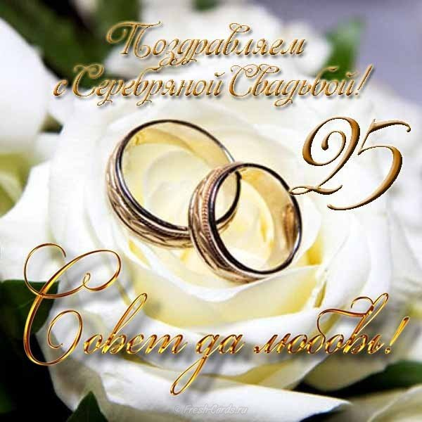 Открытка с днем серебряной свадьбы скачать бесплатно на сайте otkrytkivsem.ru