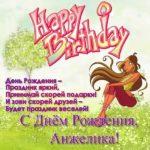 Открытка с днём рождения Анжелика скачать бесплатно на сайте otkrytkivsem.ru