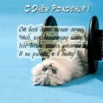 Открытка с днём рождения мужчине с котами скачать бесплатно на сайте otkrytkivsem.ru