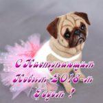Открытка с годом собаки бесплатно скачать бесплатно на сайте otkrytkivsem.ru