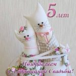 Открытка с годовщиной свадьбы 5 лет прикольная скачать бесплатно на сайте otkrytkivsem.ru