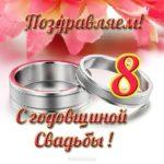 Открытка с годовщиной свадьбы 8 скачать бесплатно на сайте otkrytkivsem.ru