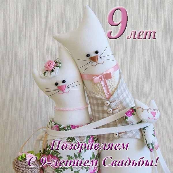 Открытка с годовщиной свадьбы 9 лет прикольная скачать бесплатно на сайте otkrytkivsem.ru