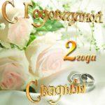 Открытка с годовщиной свадьбы два года скачать бесплатно на сайте otkrytkivsem.ru
