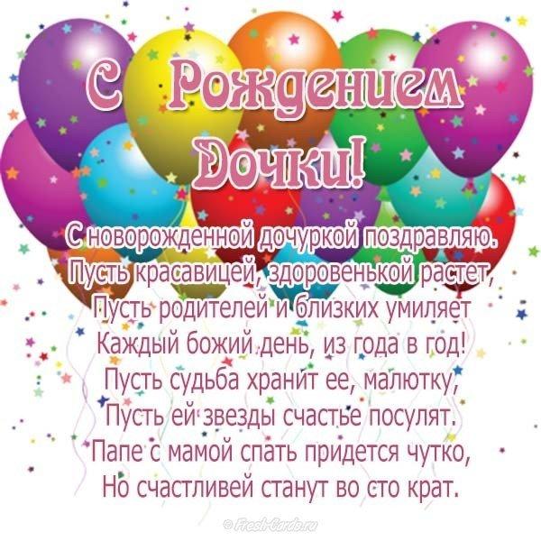 Поздравление с рождением дочки и открытки