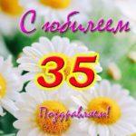 Открытка с юбилеем 35 лет женщине скачать бесплатно на сайте otkrytkivsem.ru