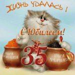 Открытка с юбилеем 35 лет женщине прикольная скачать бесплатно на сайте otkrytkivsem.ru