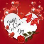 Открытка сердце на день Святого Валентина скачать бесплатно на сайте otkrytkivsem.ru