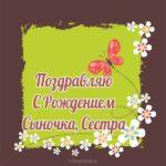 Открытка сестре с рождением сына скачать бесплатно на сайте otkrytkivsem.ru