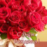 Открытка женщине с днем рождения шикарные розы скачать бесплатно на сайте otkrytkivsem.ru