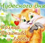 Лисичка желает чудесного дня открытка скачать бесплатно на сайте otkrytkivsem.ru