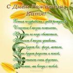Поздравить Катю с днем рождения открытка скачать бесплатно на сайте otkrytkivsem.ru