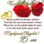 Поздравительная открытка к серебряной свадьбе скачать бесплатно на сайте otkrytkivsem.ru