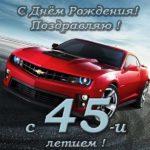 Поздравительная открытка на 45 лет скачать бесплатно на сайте otkrytkivsem.ru