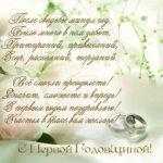 Поздравительная открытка с 1 годовщиной свадьбы скачать бесплатно на сайте otkrytkivsem.ru