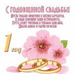 Поздравительная открытка с годовщиной свадьбы 1 год скачать бесплатно на сайте otkrytkivsem.ru