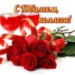Поздравление коллеге женщине с юбилеем открытка скачать бесплатно на сайте otkrytkivsem.ru