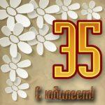 Поздравление с 35 летием женщине открытка скачать бесплатно на сайте otkrytkivsem.ru