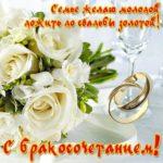 Поздравление с бракосочетанием открытка скачать бесплатно на сайте otkrytkivsem.ru