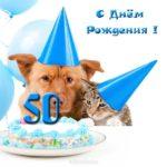 Прикольная открытка 50 лет скачать бесплатно на сайте otkrytkivsem.ru