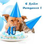 Прикольная открытка женщине 40 лет скачать бесплатно на сайте otkrytkivsem.ru