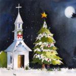 Рождественская открытка детский рисунок скачать бесплатно на сайте otkrytkivsem.ru