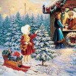 Рождественская открытка рисунок детей скачать бесплатно на сайте otkrytkivsem.ru