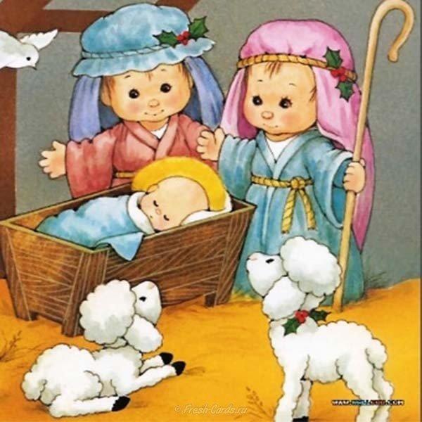 Рождество рисунок открытка скачать бесплатно на сайте otkrytkivsem.ru