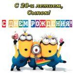 С 20 летием сынок открытка скачать бесплатно на сайте otkrytkivsem.ru