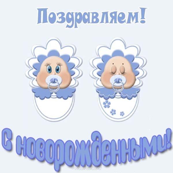 Красивые открытки, открытки с рождением близняшек мальчика и девочки