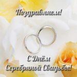 Серебряная свадьба открытка скачать бесплатно на сайте otkrytkivsem.ru
