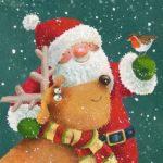 Старая открытка новый год рождество скачать бесплатно на сайте otkrytkivsem.ru