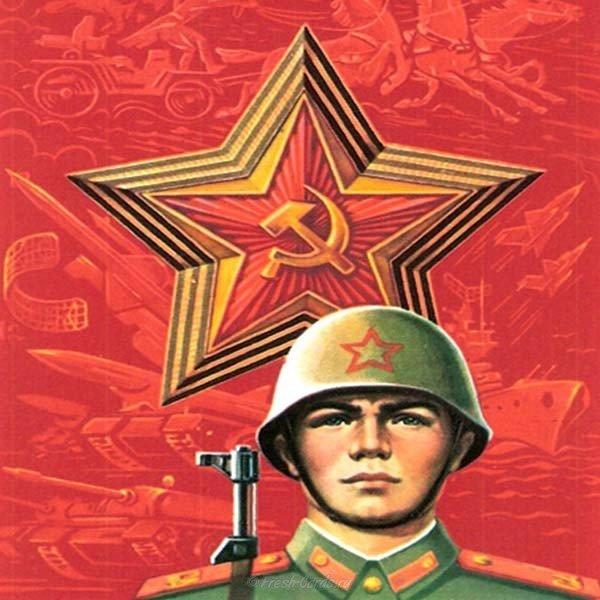 staraya sovetskaya otkrytka s fevralya
