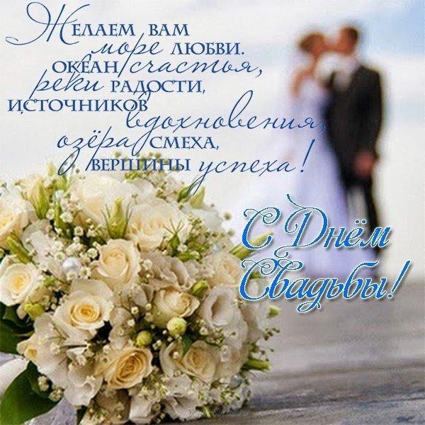 Свадебная открытка с пожеланиями скачать бесплатно на сайте otkrytkivsem.ru