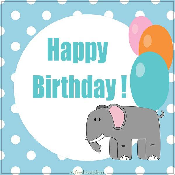 Открытка на день рождения на английском языке