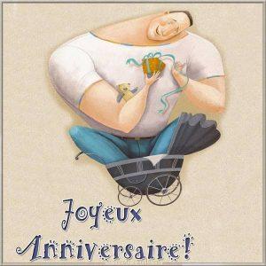 Французская открытка с днем рождения