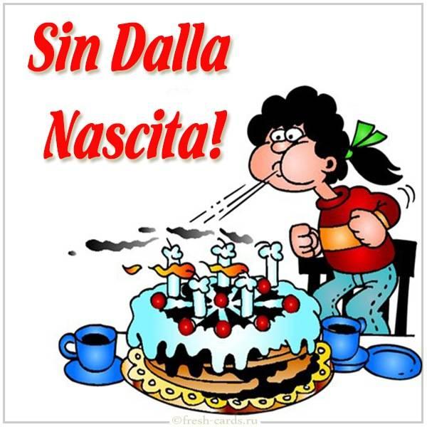 Открытка с днем рождения по Итальянски