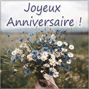 Открытка с днем рождения на Французском языке
