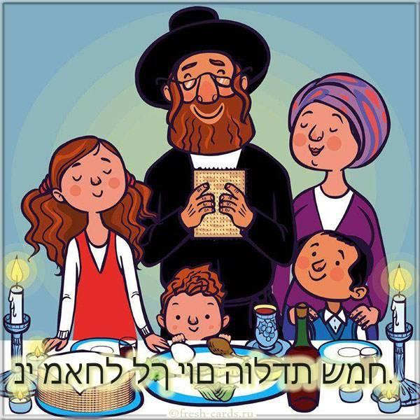 Картинка на Еврейском языке с днем рождения
