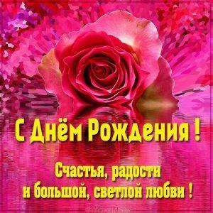 Открытка с днем рождения с розой
