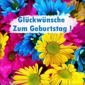 Открытка на день рождения на Немецком языке любимой