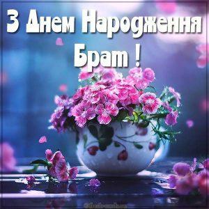 Открытка брату с днем рождения на Украинском языке