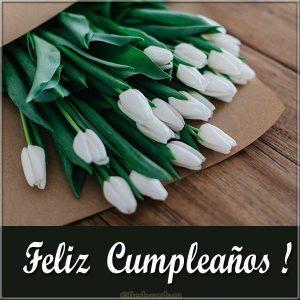Испанская картинка с днем рождения с цветами