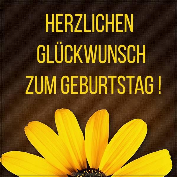 Картинка на Немецком языке с днем рождения