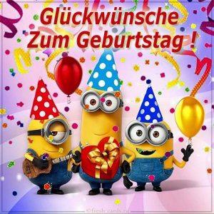 Детская открытка с днем рождения на Немецком языке