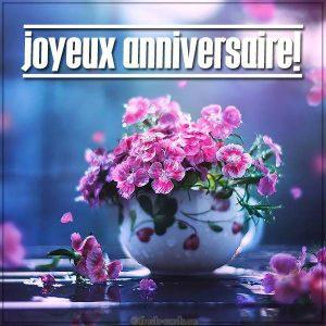Открытка с днем рождения на Французском