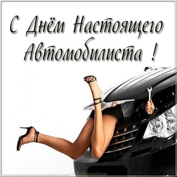 Картинка с днем автомобилиста с шуточным поздравлением