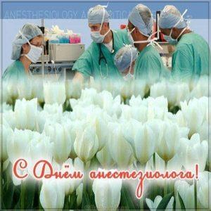 Открытка с днем анестезиолога с цветами